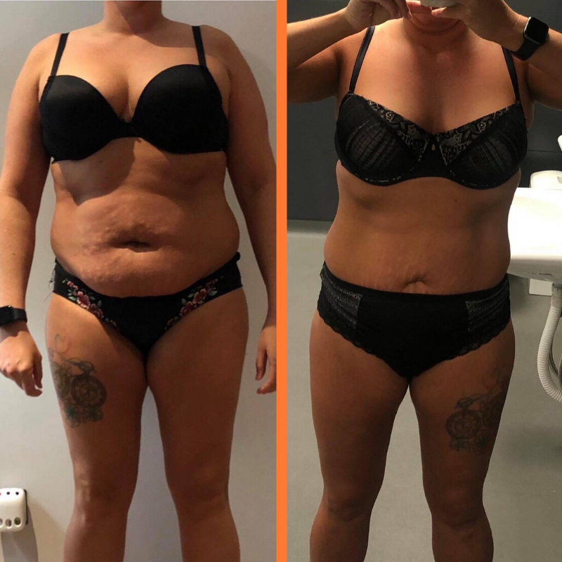 Kameni Fitness female transformation over 10-weeks